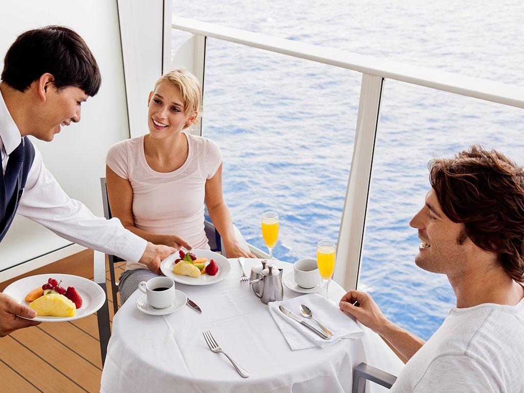 Royal Caribbean terrace