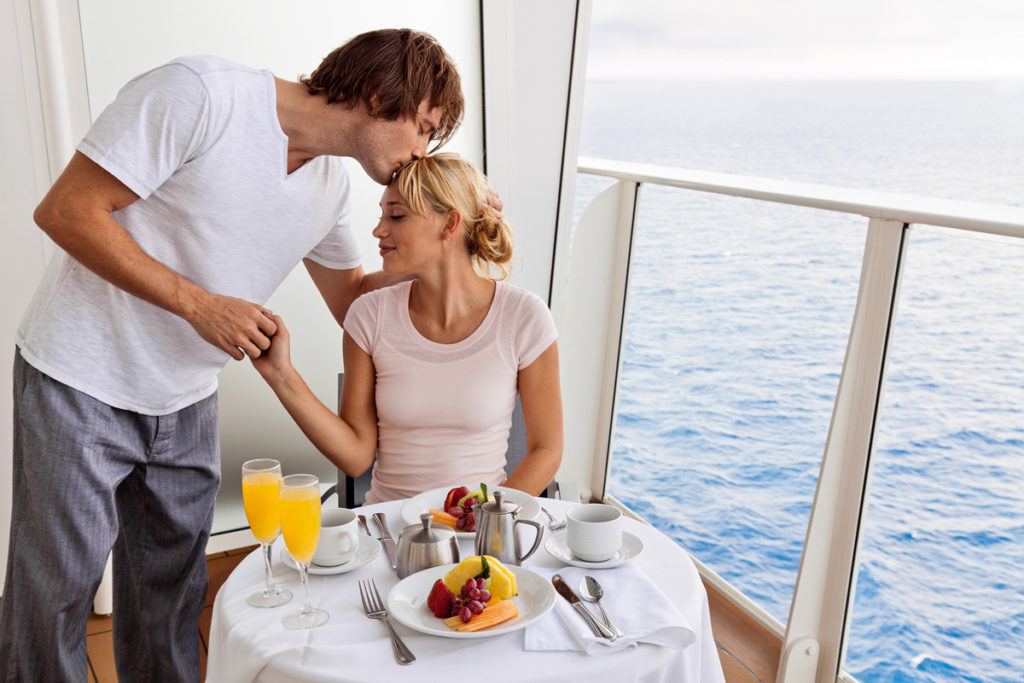Royal Caribbean balcony couple
