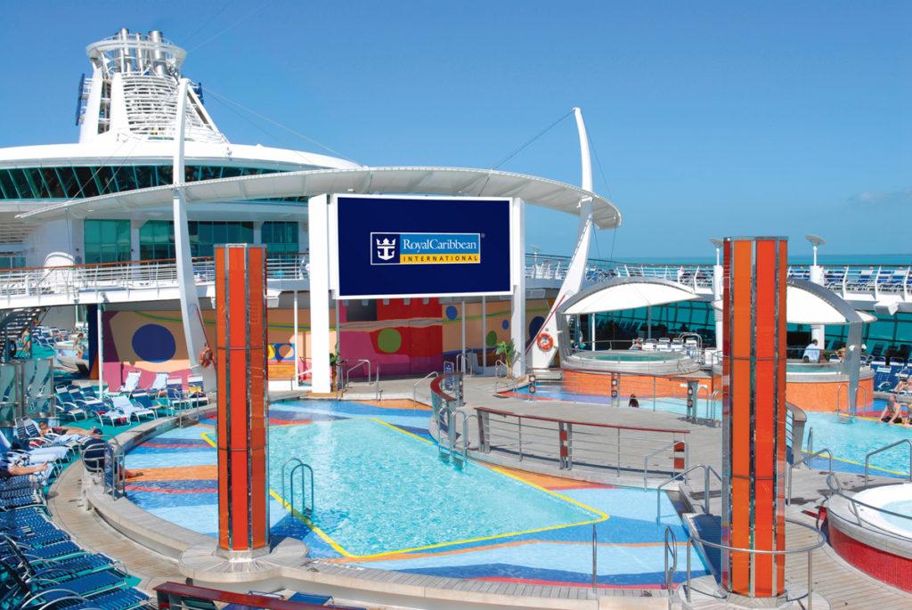Royal Caribbean pooldeck