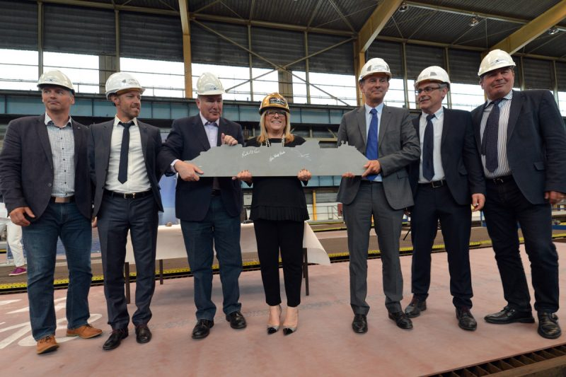 Celebrity Cruises steelcutting