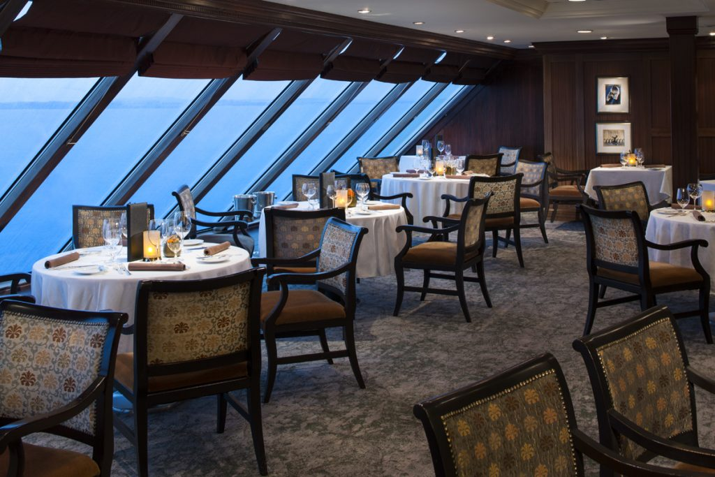 Dinner with view on cruise