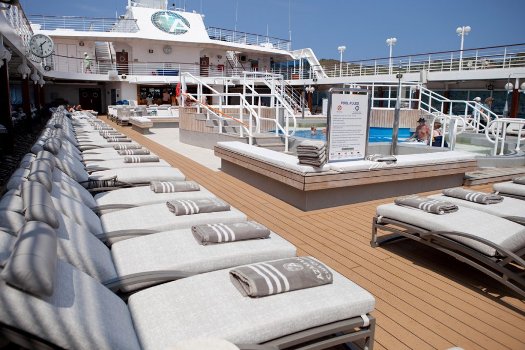 Pool on cruise deck