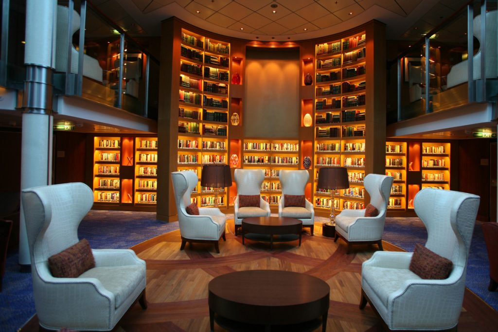 Library on cruise