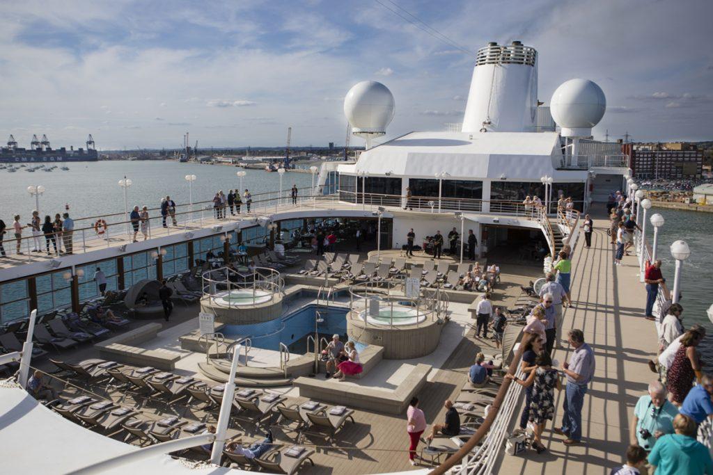 Deck cruise ship