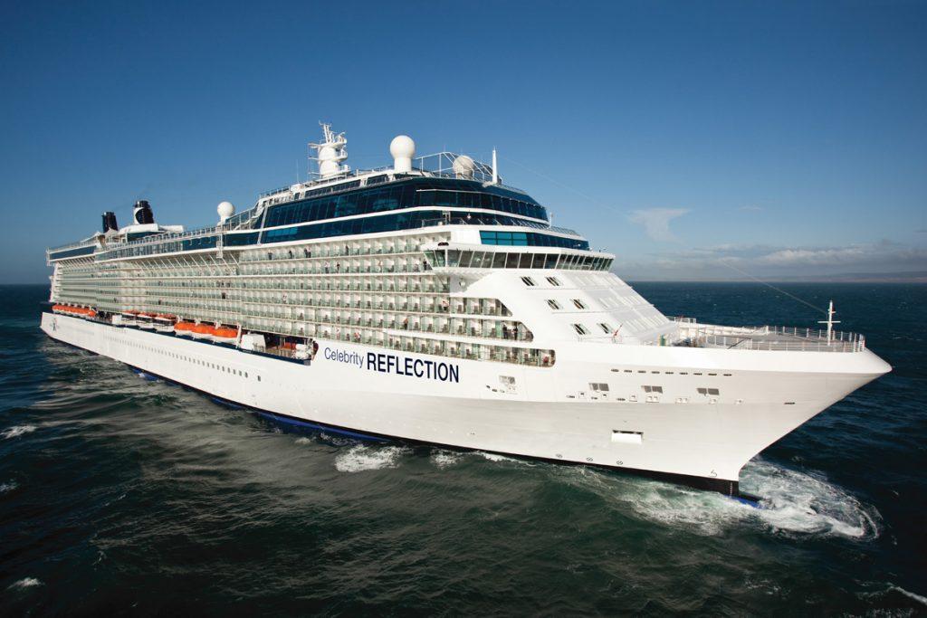 Cruise sailing on sea