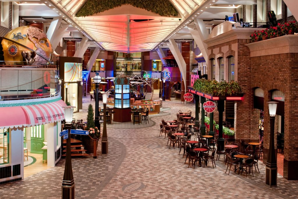 Royal promenade on cruise