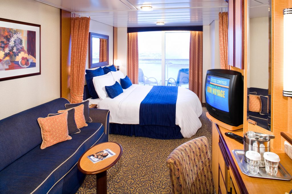 Room with ocean view on cruise