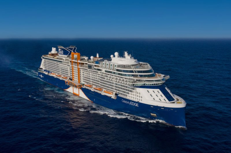 Celebrity Edge cruise on sea